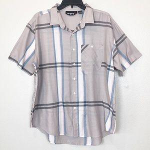 Vintage Men's Plaid Short Sleeve Button Up